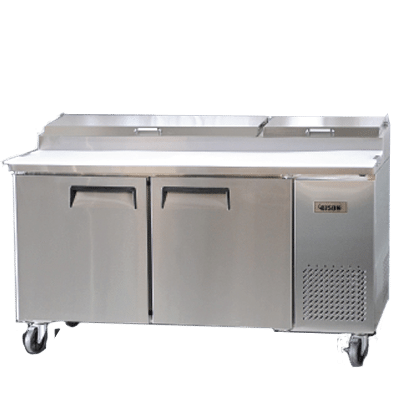 Bison BPT Refrigerated Pizza Prep Table Wilson Restaurant - Restaurant supply prep table