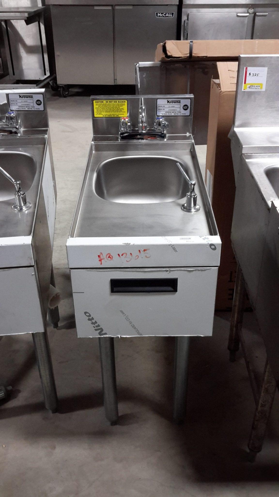 Krowne 21-12DST Underbar Hand Sink | Wilson Restaurant Supply